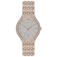 Bulova Crystals Ladies' 32mm Swarovski®-Accented Slim Watch in Rose Goldtone Stainless Steel