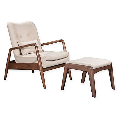 image of Zuo® Bully Lounge Chair And Ottoman Set