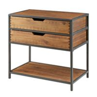 Madison Park Hudson Accent Chest in Natural/Graphite