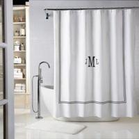 Wamsutta® Baratta 72-Inch x 84-Inch Shower Curtain in White/Black