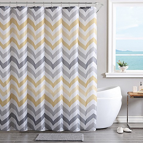 Vcny Corso Chevron 14 Piece Bath Bundle Set In Yellow