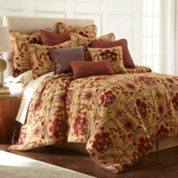 Austin Horn Classics Dakota Queen Comforter Set in Rust/Burgundy