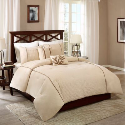 madison park katherine 5piece king comforter set in taupe - California King Bed Sheets