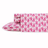 Poppy & Fritz® Flamingo Queen Sheet Set in Pink