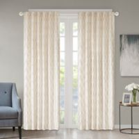 Regency Heights Kendall 63-Inch Rod Pocket/Back Tab Window Curtain Panel in Ivory