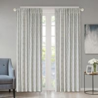 Regency Heights Kendall 95-Inch Rod Pocket/Back Tab Window Curtain Panel in Spa Blue