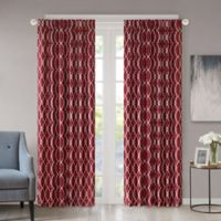 Regency Heights Kendall 95-Inch Rod Pocket/Back Tab Window Curtain Panel in Burgundy
