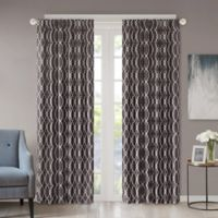Regency Heights Kendall 63-Inch Rod Pocket/Back Tab Window Curtain Panel in Charcoal