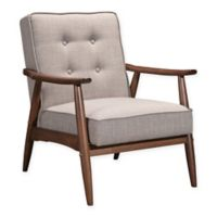 Zuo® Rocky Arm Chair in Putty