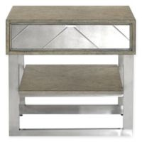 Basset Mirror Company Soraya End Table in Grey