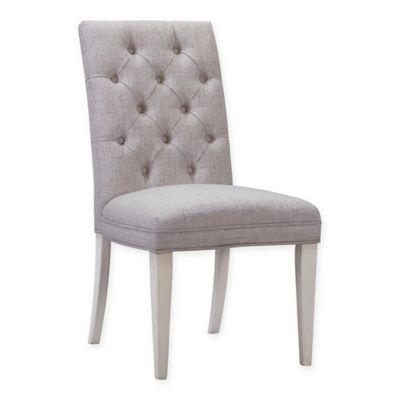 bassett mirror company belgian luxe addison parson chair in white