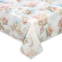 Bardwil Linens Shells Ashore 52-Inch Square Tablecloth