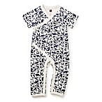 Tea Collection Size 0-3M Born Free Wrap Romper in Navy