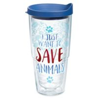 """Tervis® Professions """"I Just Want to Save Animals"""" 24 oz. Wrap Tumbler with Lid"""