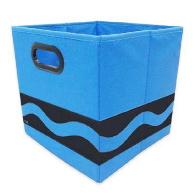 Crayola® Black Serpentine Storage Bin In Blue