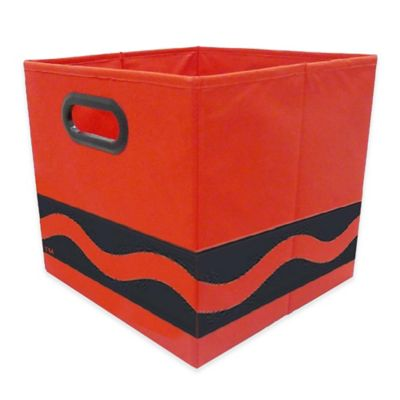 Crayola® Black Serpentine Storage Bin In Red