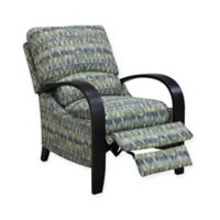 Madison Park Archdale Bent Arm Recliner in Blue/Green