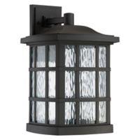 Quoizel Stonington LED Wall Lantern in Black