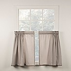 Classic Check 36-Inch Window Curtain Tiers Pair in Grey