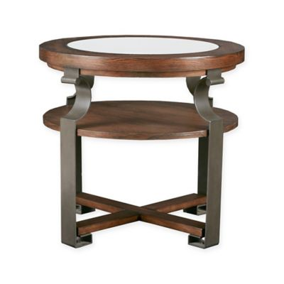 Madison Park Forge Round End Table In Natural