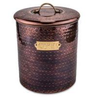 Old Dutch International Hammered Cookie Jar in Antique Copper