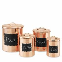 Old Dutch Décor 4-Piece Copper Chalkboard Canister Set