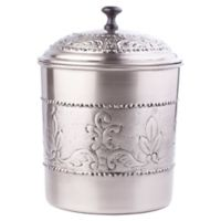 Old Dutch International Victoria Embossed Cookie Jar in Antique Pewter