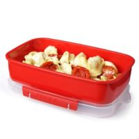Sistema® 42.2 oz. Microwavable Rectangular Food Storage Container in Red