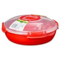 Sistema® 43.8 oz. Microwavable Plate in Red
