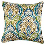 17- Square Outdoor Throw Pillow with Welt Cord in Avaco Blue