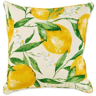 Lemonade 17 Inch Square Outdoor Throw Pillow