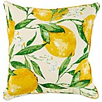 Lemonade 17-Inch Square Outdoor Throw Pillow