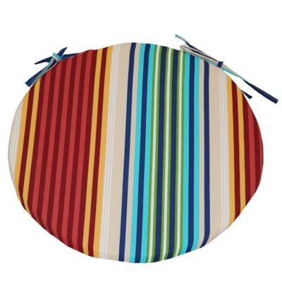 Striped Bistro Chair Cushion