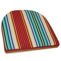 Outdoor Striped Wicker Chair Cushion