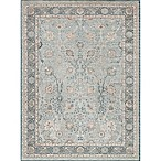 Magnolia Home by Joanna Gaines Ella Rose 2'7 x 4' Accent Rug in Light Blue/Dark Blue