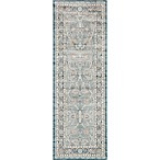Magnolia Home by Joanna Gaines Ella Rose 2-Foot 8-Inch x 7-Foot 6-Inch Runner in Lt. Blue/Dark Blue