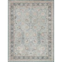 Magnolia Home by Joanna Gaines Ella Rose 6-Foot 7-Inch x 9-Foot 2-Inch Rug in Light Blue/Dark Blue