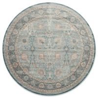 Magnolia Home by Joanna Gaines Ella Rose 9-Foot 3-Inch Round Area Rug in Light Blue/Dark Blue