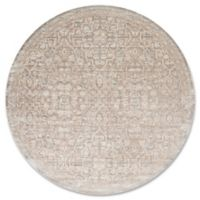 Magnolia Home by Joanna Gaines Ella Rose 7-Foot 7-Inch Round Area Rug in Pewter