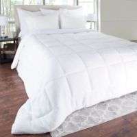 Sherpa Oversized Down Alternative King Comforter in White