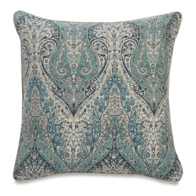 Giltner Square Throw Pillow In Teal
