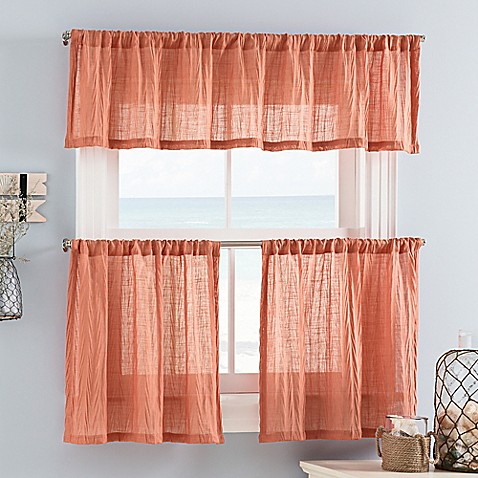 Weston Mini Window Curtain Tier And Valance Bed Bath