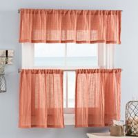 Weston Mini 36-Inch Window Curtain Tiers in Coral