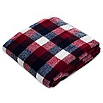 Classic Plaid Throw Blanket in Red/Blue