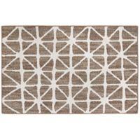 Mohawk Signature Bamboo View 20-Inch x 34-Inch Accent Rug in Dark Khaki/Cream