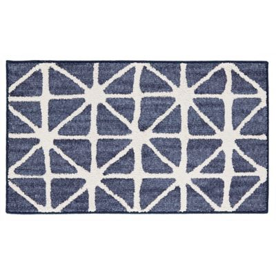 Mohawk Signature Bamboo View 30 Inch X 46 Accent Rug In Indigo