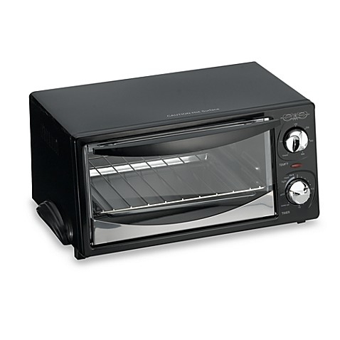 Bella Cucina® 4 Slice Black Toaster Oven