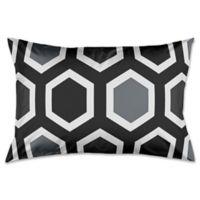 Geometric King Pillow Sham in Black/White/Grey