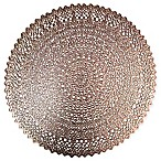 Adele Round Placemat in Rose Gold