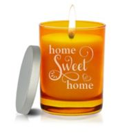 Carved Solutions Gem Collection Unscented Home Sweet Home Soy Wax Candle in Topaz